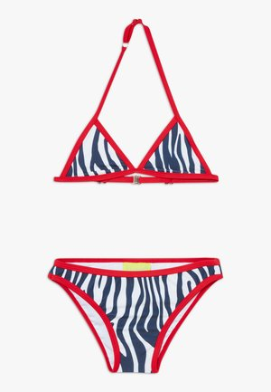 GIRLS TRIANGLE SET - Bikiny - white/red