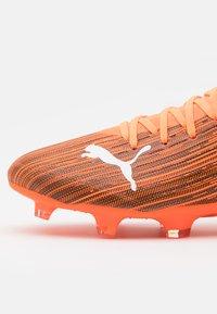 Puma - ULTRA 3.1 FG/AG - Fußballschuh Nocken - shocking orange/black - 5