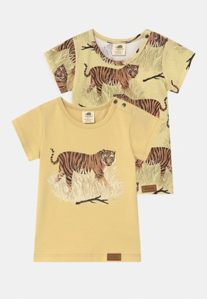 TIGERS 2 PACK UNISEX - Print T-shirt - yellow