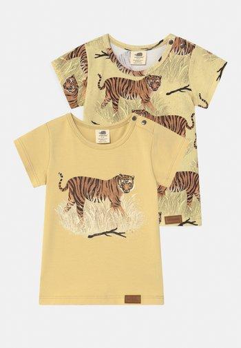 TIGERS 2 PACK UNISEX - Print T-shirt - yellow