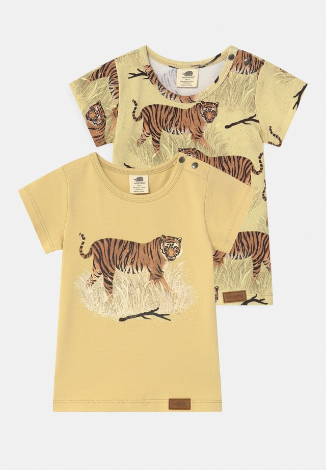 TIGERS 2 PACK UNISEX - T-shirt con stampa - yellow
