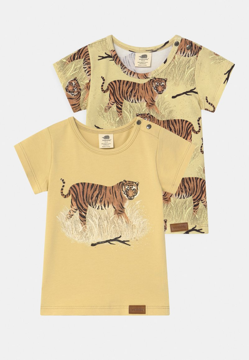 Walkiddy - TIGERS 2 PACK UNISEX - Print T-shirt - yellow