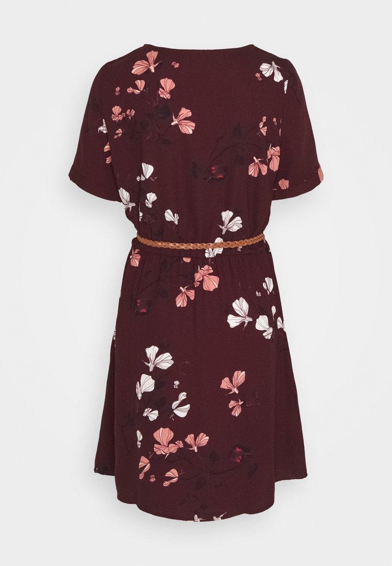 vmannie belt short dress - korte jurk - winetasting/hallie