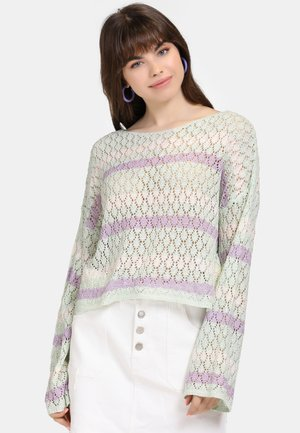 Jersey de punto - mint/purple