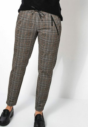 SUE MODERN CHIC CHECK - Trousers - blacktoffee