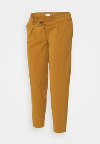 MAMALICIOUS - MLHIRA SLOUCHY PANTS - Spodnie materiałowe - meerkat - 0