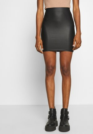 PCNEW SHINY SKIRT - Pencil skirt - black