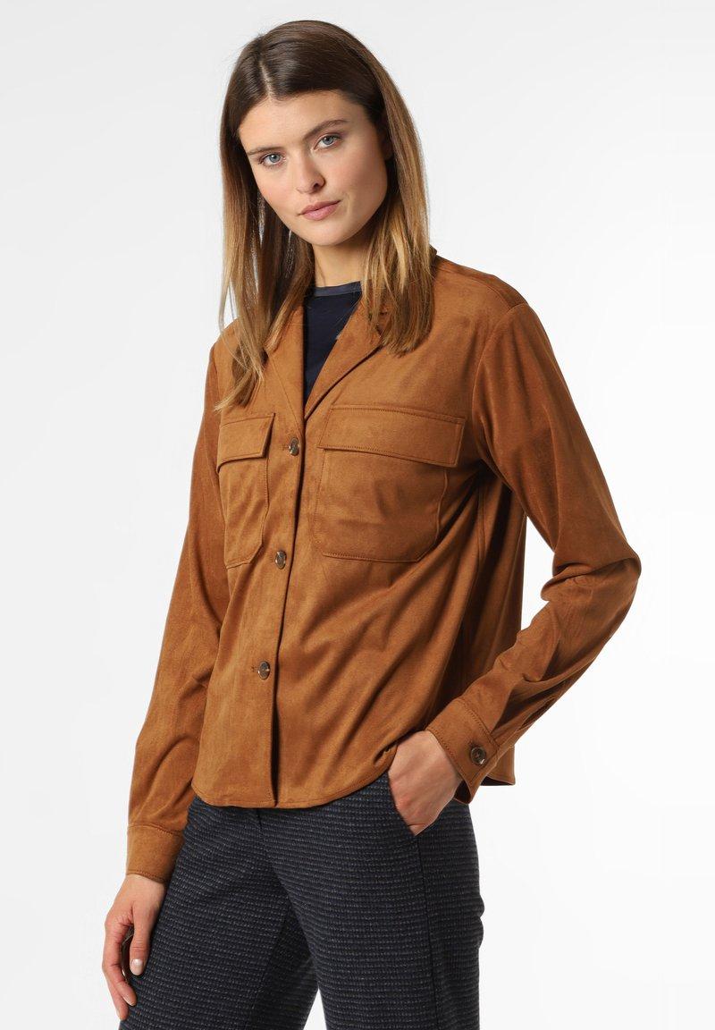 comma - Faux leather jacket - cognac