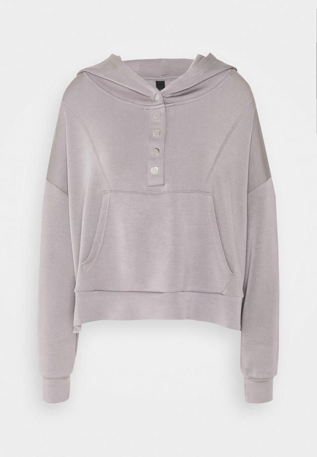 YASCOMO - Bluza z kapturem - medium grey melange