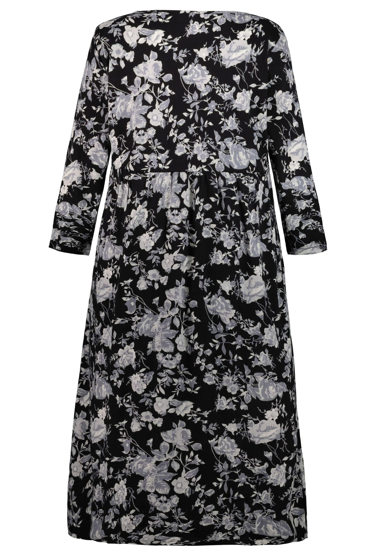 Ulla Popken Jerseykleid black/white/schwarz