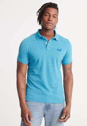 Polo shirt - electric blue grit