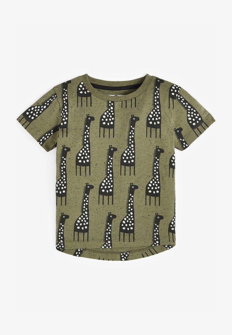 Next - Print T-shirt - khaki