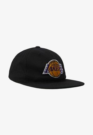 NBA LA LAKERS TEAM LOGO DEADSTOCK THROWBACK SNAPBACK - Cap - black