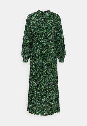 PEACOCK MIDI DRESS - Shirt dress - green