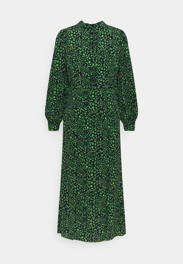 PEACOCK MIDI DRESS - Shirt dress - green