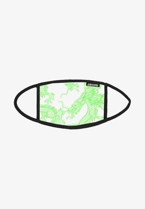 Stoffen mondkapje - white/green