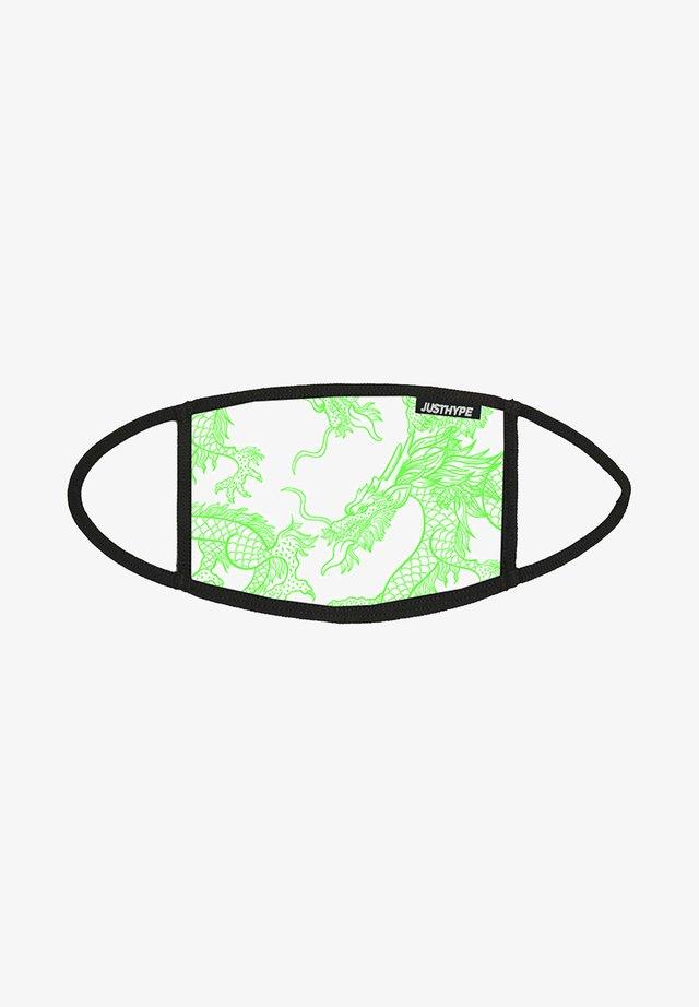 Masque en tissu - white/green