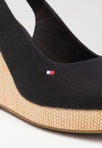Tommy Hilfiger - ICONIC ELENA SLING BACK WEDGE - High heeled sandals - black - 2