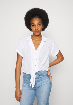 RESORT TEXTURE UPDATE - Button-down blouse - white