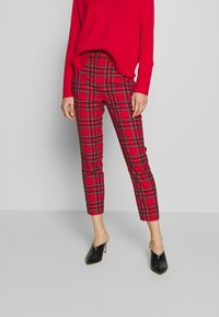 J.CREW - CAMERON IN GOOD TIDINGS - Pantaloni - red/black/multi - 0