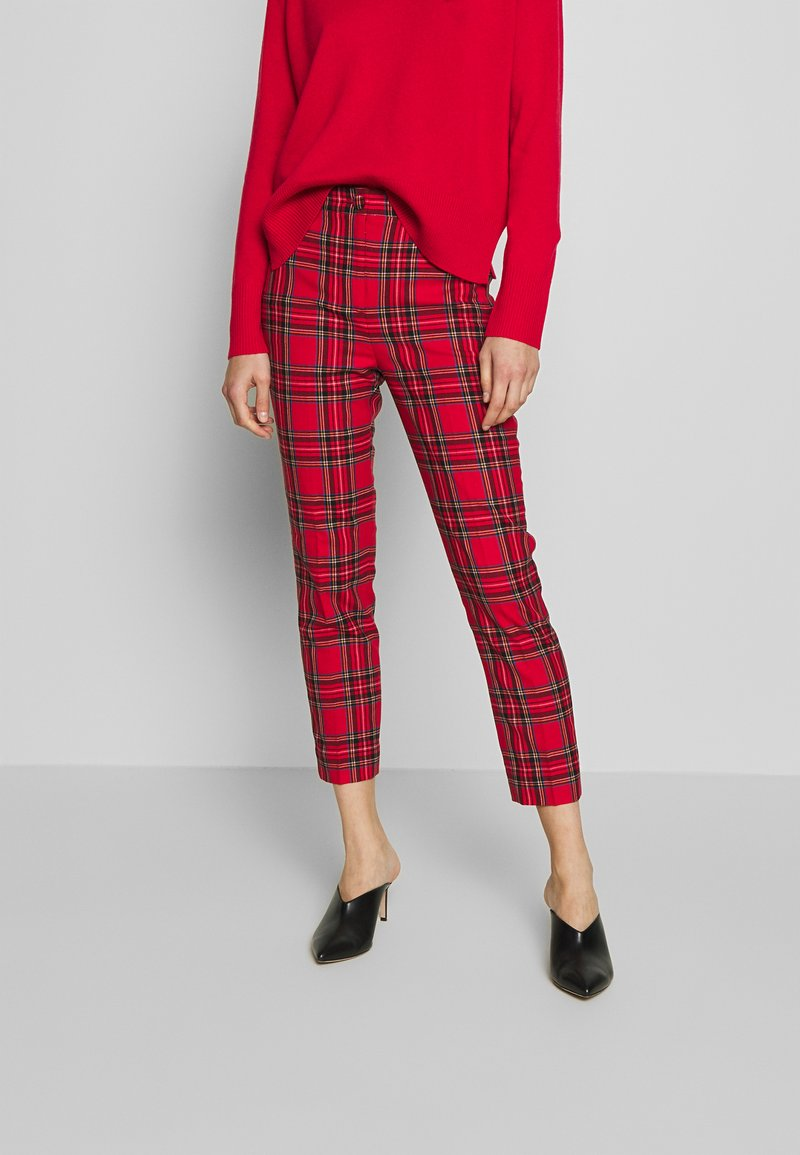 J.CREW - CAMERON IN GOOD TIDINGS - Pantaloni - red/black/multi