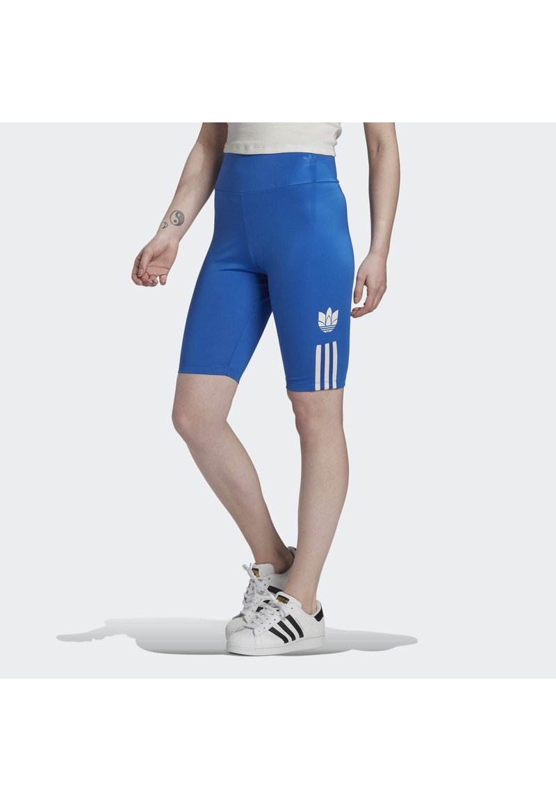 adidas Originals - ADICOLOR 3D TREFOIL SHORT TIGHTS - Shorts - blue