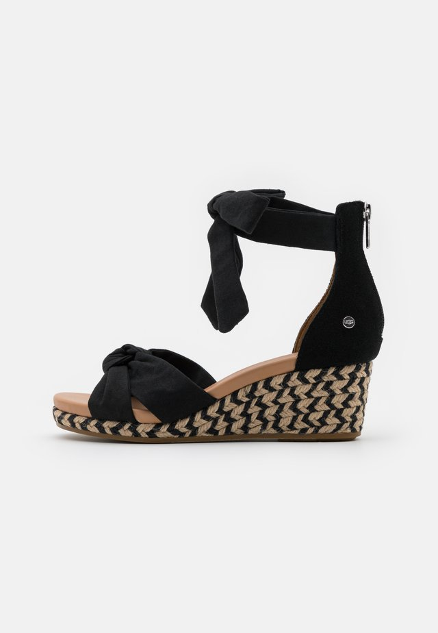 YARROW - Sandalen met plateauzool - black