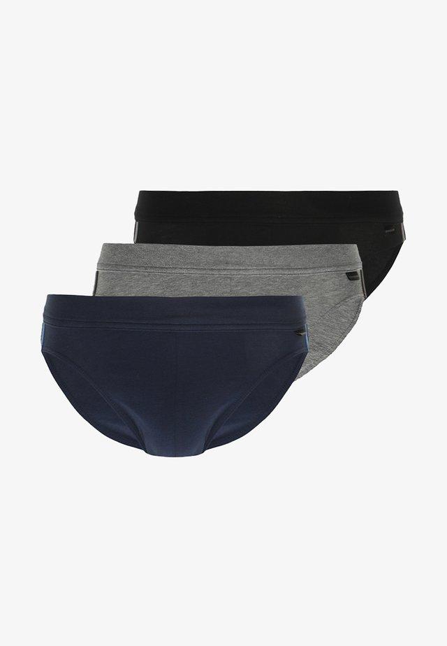 RIO 3 PACK - Briefs - dark blue/mottled grey/black