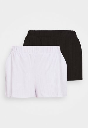 HADLEY  2 PACK - Tracksuit bottoms - black dark/lilac purple dusty light