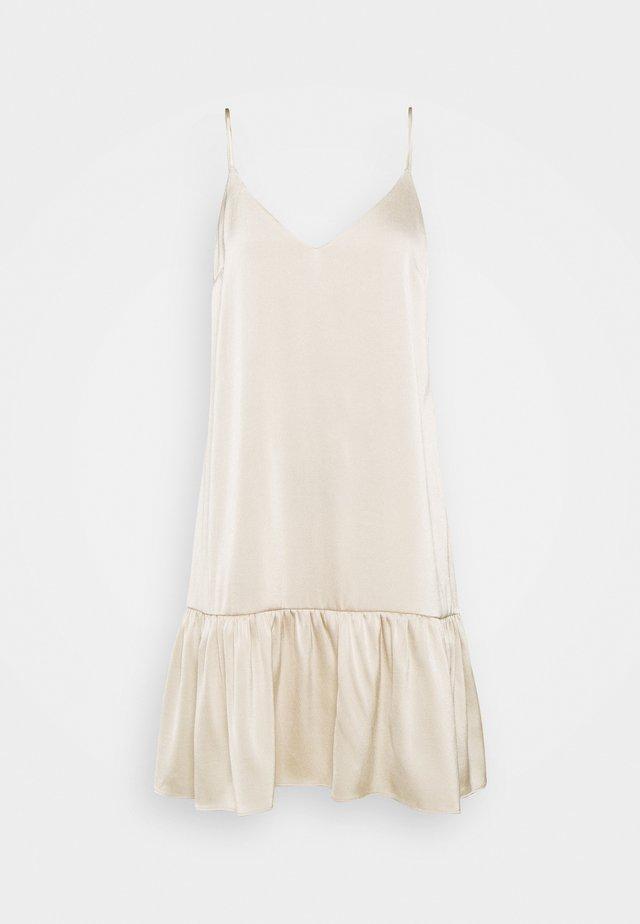 JUDITH SHORT DRESS - Korte jurk - brown rice