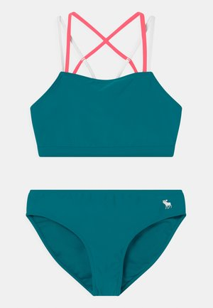 TWIST FRONT SET - Bikini - ocean blue