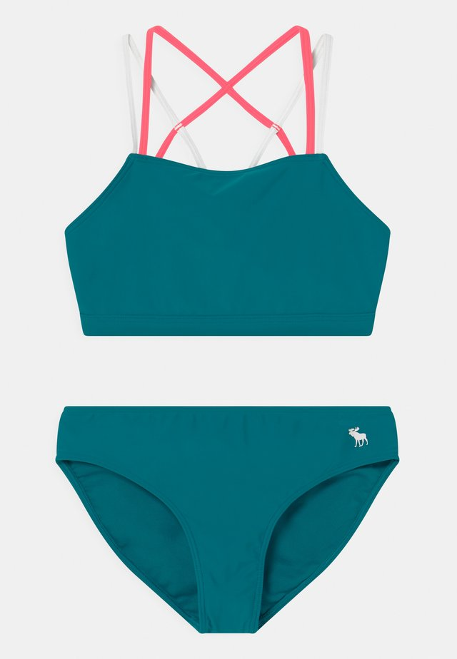 TWIST FRONT SET - Bikini - ocean blue