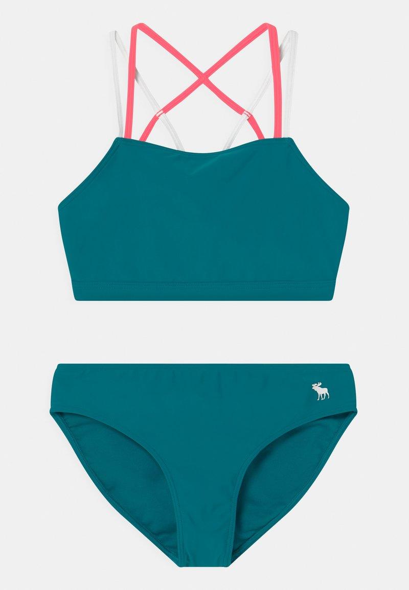 Abercrombie & Fitch - TWIST FRONT SET - Bikini - ocean blue