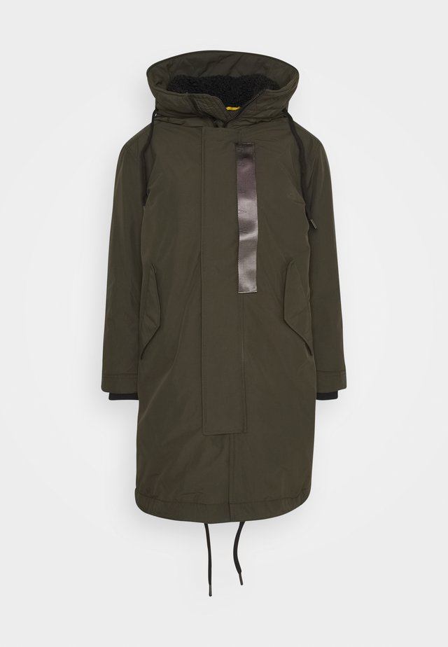 HOODED PADDED FISHTAIL  - Parka - asfalt