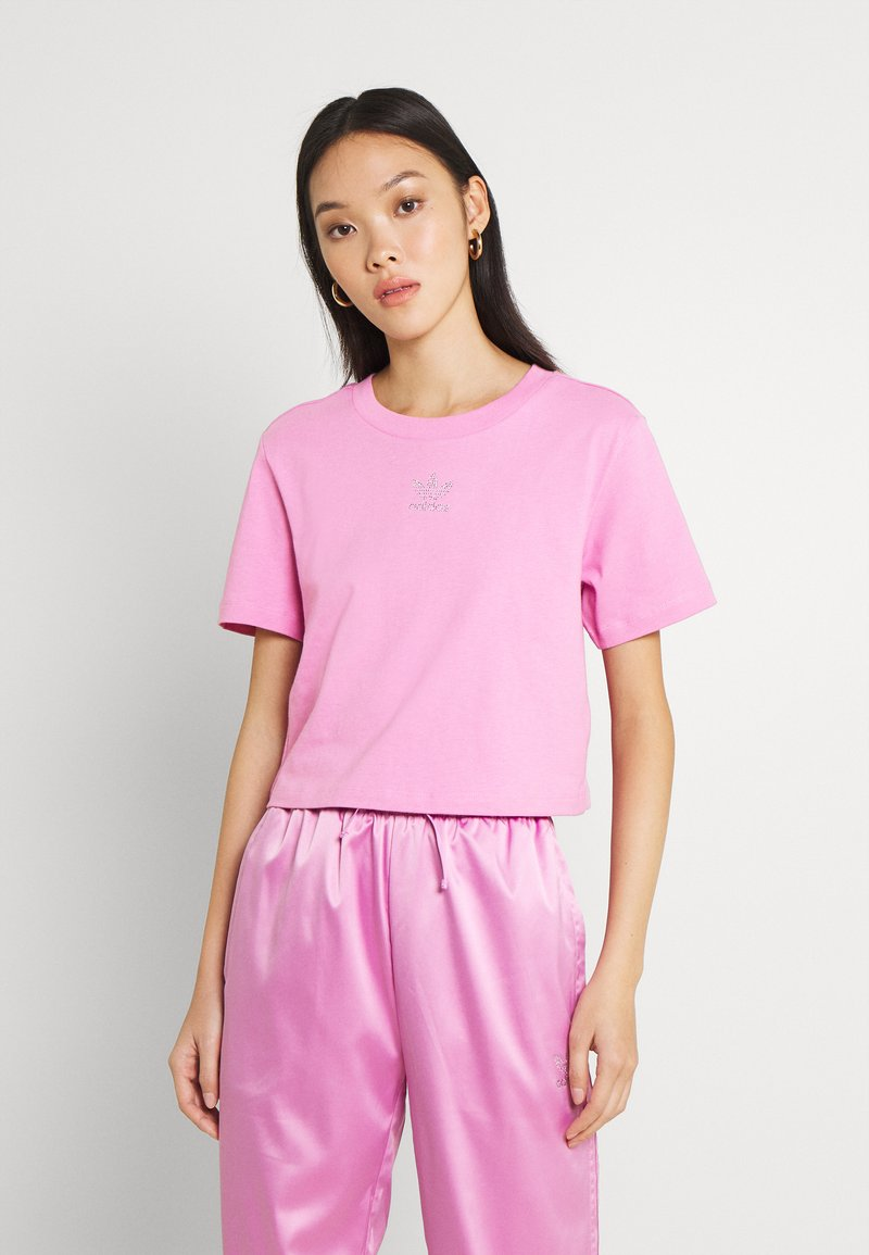 adidas Originals - CROPPED TEE - Basic T-shirt - bliss orchid
