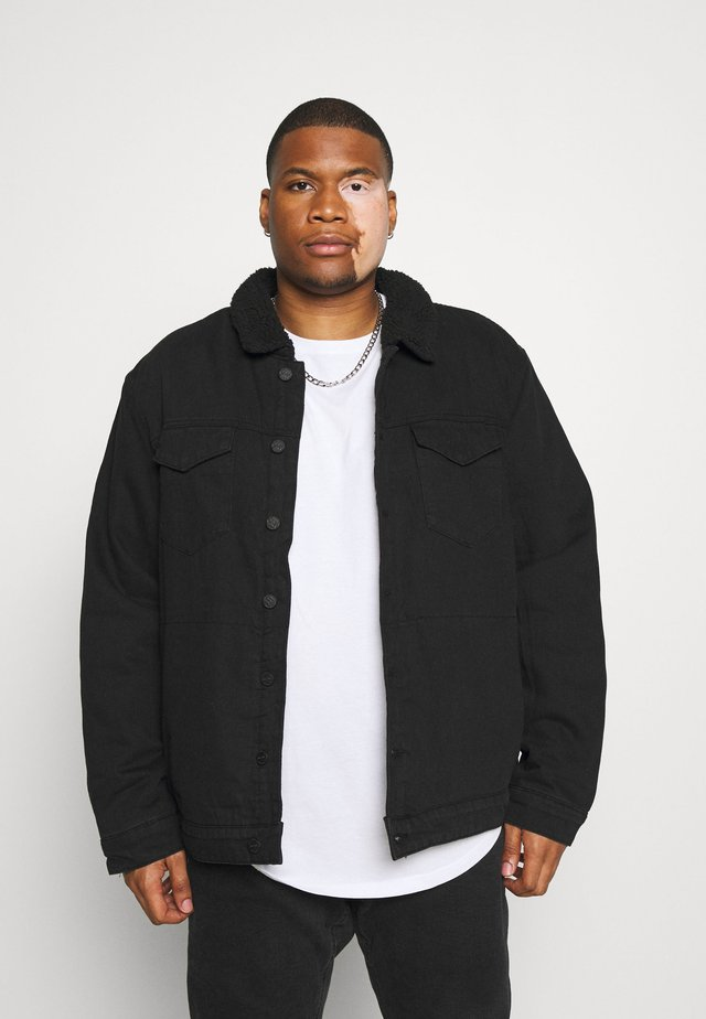 ONSJONNY LIFE TEDDY - Denim jacket - black denim