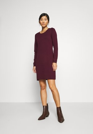 DRESS - Strikket kjole - bordeaux red
