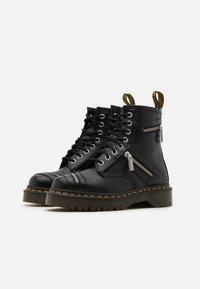 Dr. Martens - 1460 BEX ZIP - Cowboy/biker ankle boot - black smooth - 1