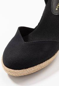 Tommy Hilfiger - BASIC CLOSED TOE HIGH WEDGE - High heeled sandals - black - 2