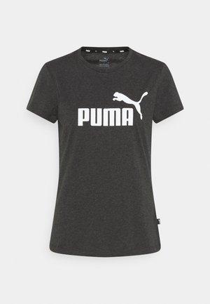 LOGO TEE - Camiseta de deporte - dark gray heather