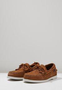 Sebago - DOCKSIDES PORTLAND - Boat shoes - brown cognac - 2