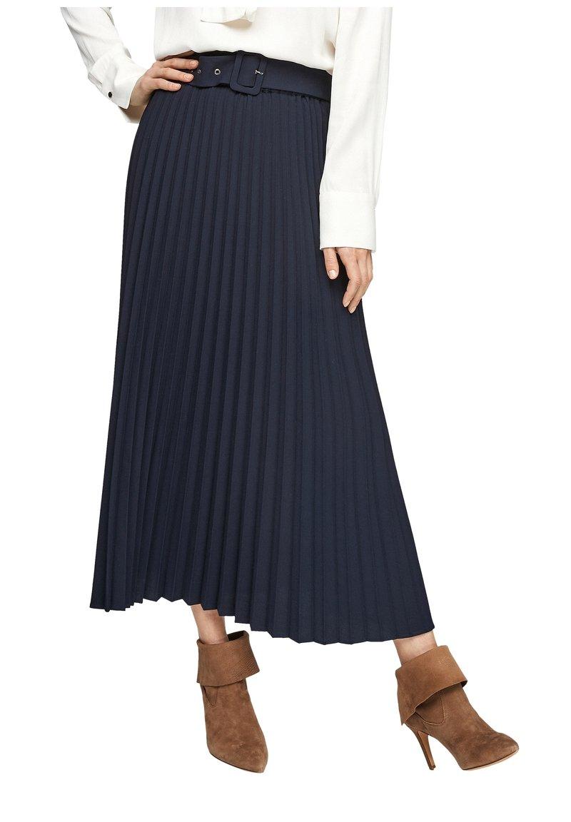 s.Oliver - A-line skirt - blue