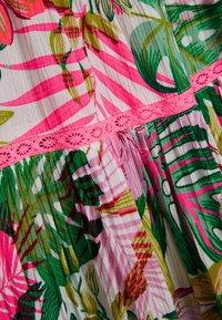 Next - PINK/GREEN PALM PRINT TIERED DRESS - Day dress - pink - 2