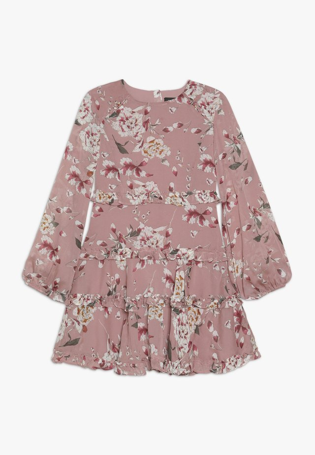 FLORAL FRILL DRESS - Korte jurk - rose