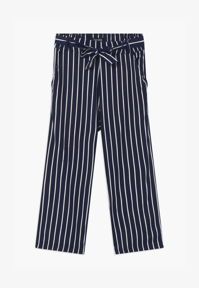 TEEN GIRL STRIPE - Tygbyxor - dark blue
