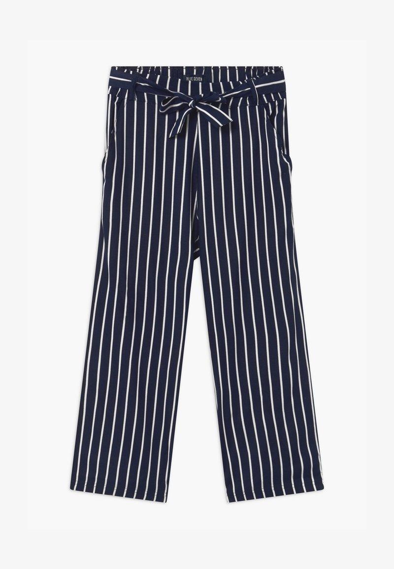 Blue Seven - TEEN GIRL STRIPE - Kalhoty - dark blue