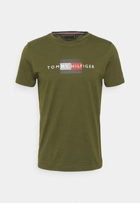 LINES TEE - T-shirt con stampa - olivewood