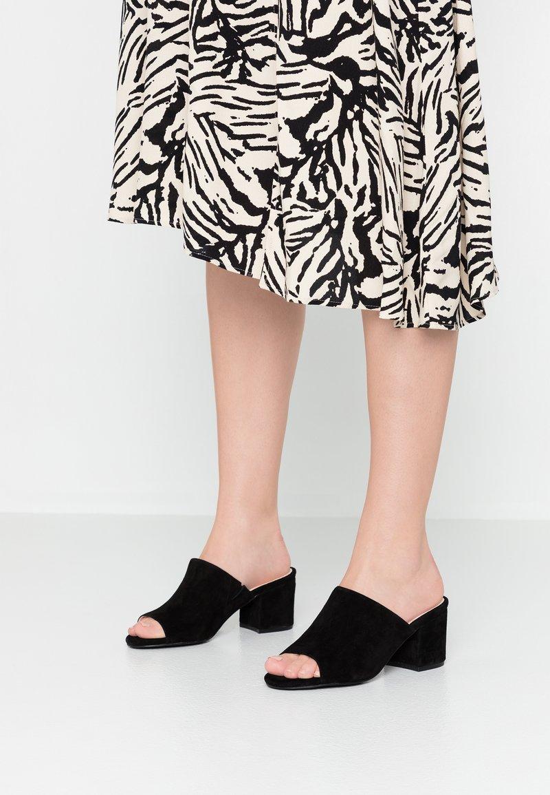 Bianco - BIACATE - Heeled mules - black