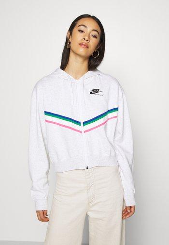 Zip-up sweatshirt - birch heather/black