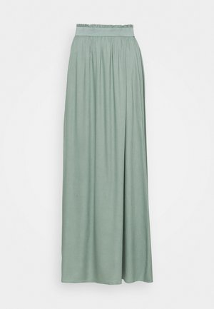 ONLVENEDIG PAPERBAG LONGSKIRT - Maxi skirt - chinois green